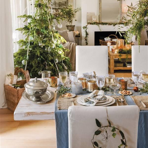 decorar mesas navideñas